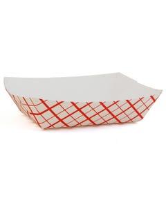Red Checkered Food Tray, #40, 6OZ, 1000/CS