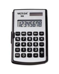 Victor® 908 Portable Pocket/Handheld Calculator, 8-Digit Lcd