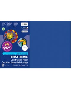 "Tru-Ray Heavyweight Construction Paper - 18"" x 12"" - 50 / Pack - Royal Blue - Sulphite"