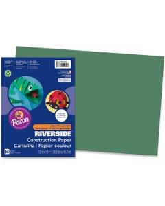 "Riverside Construction Paper - 18"" x 12"" - 50 / Pack - Dark Green"