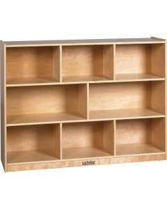 """ECR4KIDS Birch Storage Cabinet - 8 Compartment(s) - 12"""" - 36"""" Height x 48"""" Width x 13"""" Depth - Floor - Natural - Birch - 1Each"""