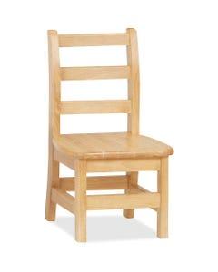 "Jonti-Craft KYDZ Ladderback Chair - Maple Solid Hardwood Seat - Maple Solid Hardwood Back - Four-legged Base - Plastic - 13"" Width x 13.5"" Depth x 22.5"" Height - 1 Each"