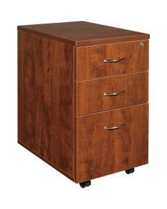 "Lorell Essentials Pedestal - 3-Drawer - 15.8"" x 22"" x 28.4"" x 1"" - 3 x Box Drawer(s), File Drawer(s) - Finish: Cherry, Laminate"