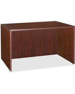 "Lorell Essentials Rectangular Desk Shell - 47.3"" x 29.5"" x 29.5"" x 1"" - Finish: Laminate, Mahogany"
