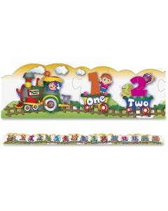 Creativity Street Number Train Floor Puzzle - Theme/Subject: Learning - 3+27 Piece