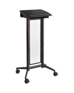 """Safco Impromptu Lectern - Rectangle Top - 46.50"""" Height x 26.50"""" Width x 18.75"""" Depth - Assembly Required - Black, Powder Coated"""