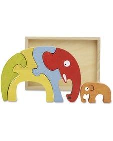 BeginAgain Toys Elephant Family Puzzle