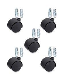 Lorell Premium Dual Hard Wheel Casters Set