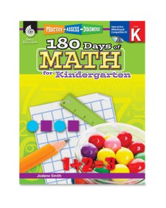 Shell Education 180 Days of Math for Kindergarten Book Printed/Electronic Book by Jodene Smith - Shell Educational Publishing Publication - April 2011 - Book, CD-ROM - Grade K - English
