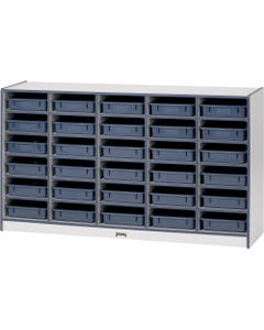 "Rainbow Accents Rainbow Paper Cubbie Mobile Storage - 30 Compartment(s) - 35.5"" Height x 60"" Width x 15"" Depth - Orange - Rubber - 1Each"