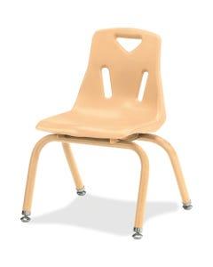 "Berries Stacking Chair - Camel Polypropylene Seat - Camel Polypropylene Back - Steel Frame - Four-legged Base - 19.5"" Width x 21"" Depth x 29.5"" Height - 1 Each"