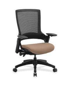"""Lorell Executive Chair - Malted Seat - 28.4"""" Width x 27.5"""" Depth x 43"""" Height - 1 / Each"""