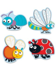 """Carson Dellosa Education Buggy For Bugs Cut-Outs Set - Learning Theme/Subject - 36 (Cutout) Shape - """"Buggy"""" for Bugs - 5"""" Height x 5.75"""" Width - Multicolor - Card Stock - 36 / Pack"""