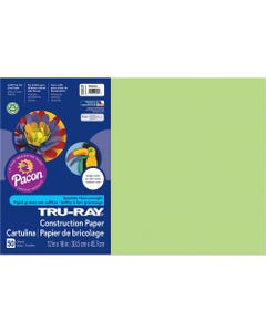 """Tru-Ray Construction Paper - Art Project - 18"""" x 12"""" - 25 / Pack - Chartreuse - Sulphite"""