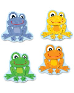 Carson Dellosa Education FUNky Frogs Cut-Outs - Learning Theme/Subject - 36 (Frog Fun) Shape - Multicolor - Card Stock - 36 / Pack