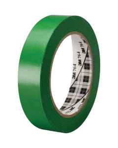 3M General-Purpose Vinyl Tape 764 - 36 yd Length - 5 mil Thickness - Rubber - 4 mil - Polyvinyl Chloride (PVC) Backing - 1 Roll - Green