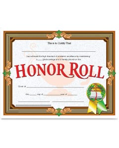 """Flipside Honor Roll Certificate - 11"""" x 8.50"""" - Laser Compatible - Assorted - 30 / Pack"""