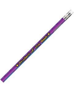 Moon Products Student Of The Week Themed Pencils - #2 Lead - Black Lead - Purple Wood Barrel - 1 Dozen