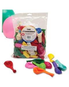 """Hygloss 9"""" Round Balloons - 144 (Round) Shape - Durable - 9"""" Height - Assorted - 144 / Pack"""