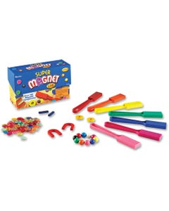 Learning Resources Super Magnet Lab Kit - Skill Learning: Science Experiment, Creativity - 5-10 Year - 124 Pieces