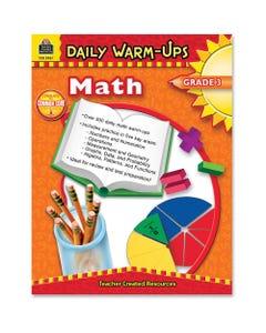 Teacher Created Resources Gr 3 Math Daily Warm-Ups Book Printed Book - Teacher Created Resources Publication - Book - Grade 3