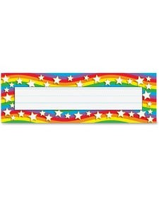 Trend Star Rainbow Desk Toppers Name Plates