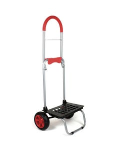 """dbest Mighty Max Dolly - 160 lb Capacity - x 16"""" Width x 14"""" Depth x 37.8"""" Height - Red - 1 Each"""