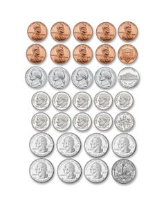 Ashley US Coin Money Set Die-cut Magnets - Theme/Subject: Learning - Skill Learning: Visual