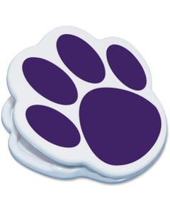 Ashley Animal Paw Magnet Clip - for Artwork, Sign, Photo - Magnetic, Strong - 1Each - Purple