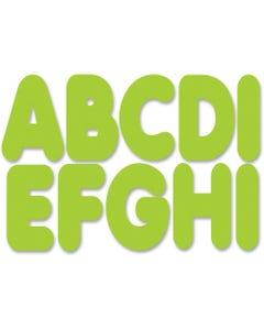 "Ashley Magnetic Die-cut Letters - (Letter) Shape - Magnetic - Die-cut, Durable, Damage Resistant, Long Lasting - 2.75"" Length - Lime Green - 1 Set"