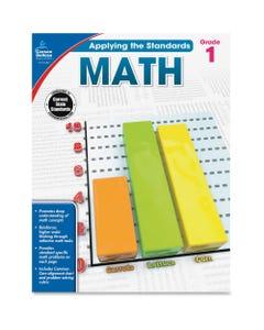Carson Dellosa Education Grade 1 Applying the Standards Math Workbook Printed Book - Book - Grade 1