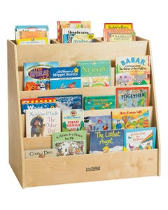 "ECR4KIDS Display/Store Book Cart - 34"" Height x 36"" Width x 20"" Depth - Floor - Birch - 1Each"
