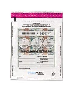 MMF Industries™ Freezfraud Tamper-Evident Deposit Bags, 12 X 16, Clear, 100/Box