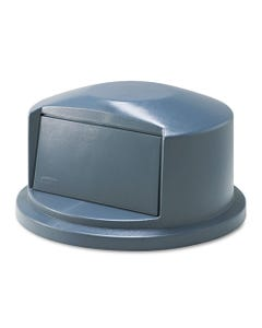 Rubbermaid® Commercial Brute Dome Top Swing Door Lid For 32 Gal Waste Containers, Plastic, Gray