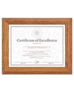DAX® Document/Certificate Frame, Wood, 8-1/2 X 11, Stepped Oak