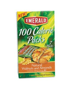 Emerald® 100 Calorie Pack Walnuts And Almonds, 0.56 Oz Packs, 7/Box