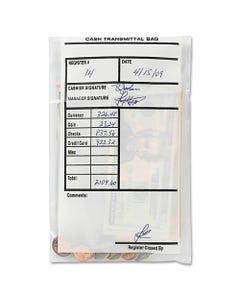 MMF Industries™ Cash Transmittal Bags, Self-Sealing, 6 X 9, Clear, 500 Bags/Box