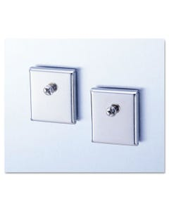 Universal® Cubicle Accessory Mounting Magnets, Silver, Set Of 2