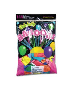 Tablemate® Helium Quality Latex Balloons, 12 Assorted Colors, 144/Pack