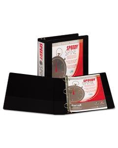 "Samsill® Speedy Spine Heavy-Duty Time Saving Round Ring View Binder, 3 Rings, 2"" Capacity, 11 X 8.5, Black"