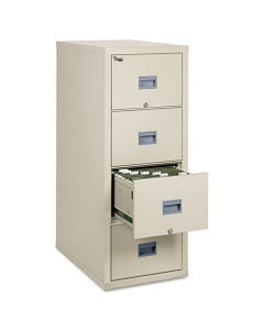 FireKing® Patriot Insulated Four-Drawer Fire File, 17.75W X 31.63D X 52.75H, Parchment