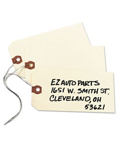 Avery® Double Wired Shipping Tags, 13Pt. Stock, 5 1/4 X 2 5/8, Manila, 1,000/Box