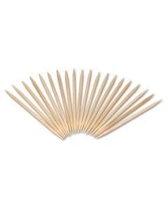 "AmerCareRoyal® Round Wood Toothpicks, 2 1/2"", Natural, 24 Inner Boxes Of 800, 5 Boxes/Carton, 96,000 Toothpicks/Carton"