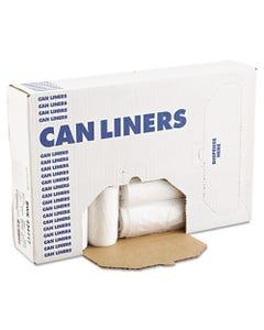"Boardwalk® High-Density Can Liners, 56 Gal, 14 Microns, 43"" X 47"", Natural, 200/Carton"