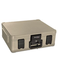 SureSeal By FireKing® Fire And Waterproof Chest, 0.38 Cu Ft, 19.9W X 17D X 7.3H, Taupe