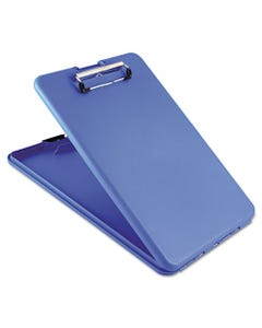 """Saunders Slimmate Storage Clipboard, 1/2"""" Clip Capacity, Holds 8 1/2 X 11 Sheets, Blue"""