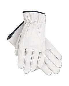 MCR™ Safety Grain Goatskin Driver Gloves, White, X-Large, 12 Pairs