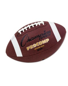 """Champion Sports Pro Composite Football, Official Size, 22"""", Brown"""