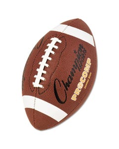 "Champion Sports Pro Composite Football, Junior Size, 20.75"", Brown"
