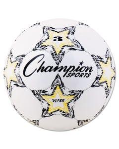"""Champion Sports Viper Soccer Ball, Size 3, 7 1/4""""- 7 1/2"""" Dia., White"""